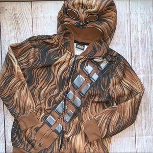 Boys Star Wars Chewbacca ZipUp Hoodie Size XS